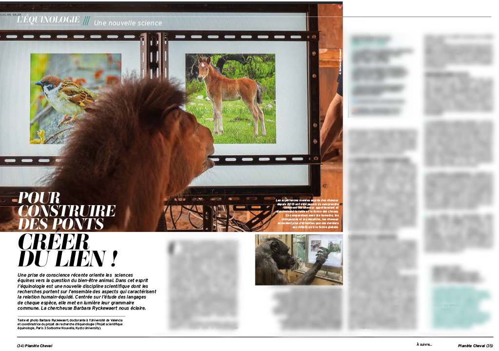 Le nouveau magazine Planète Cheval parle d'équinologie !