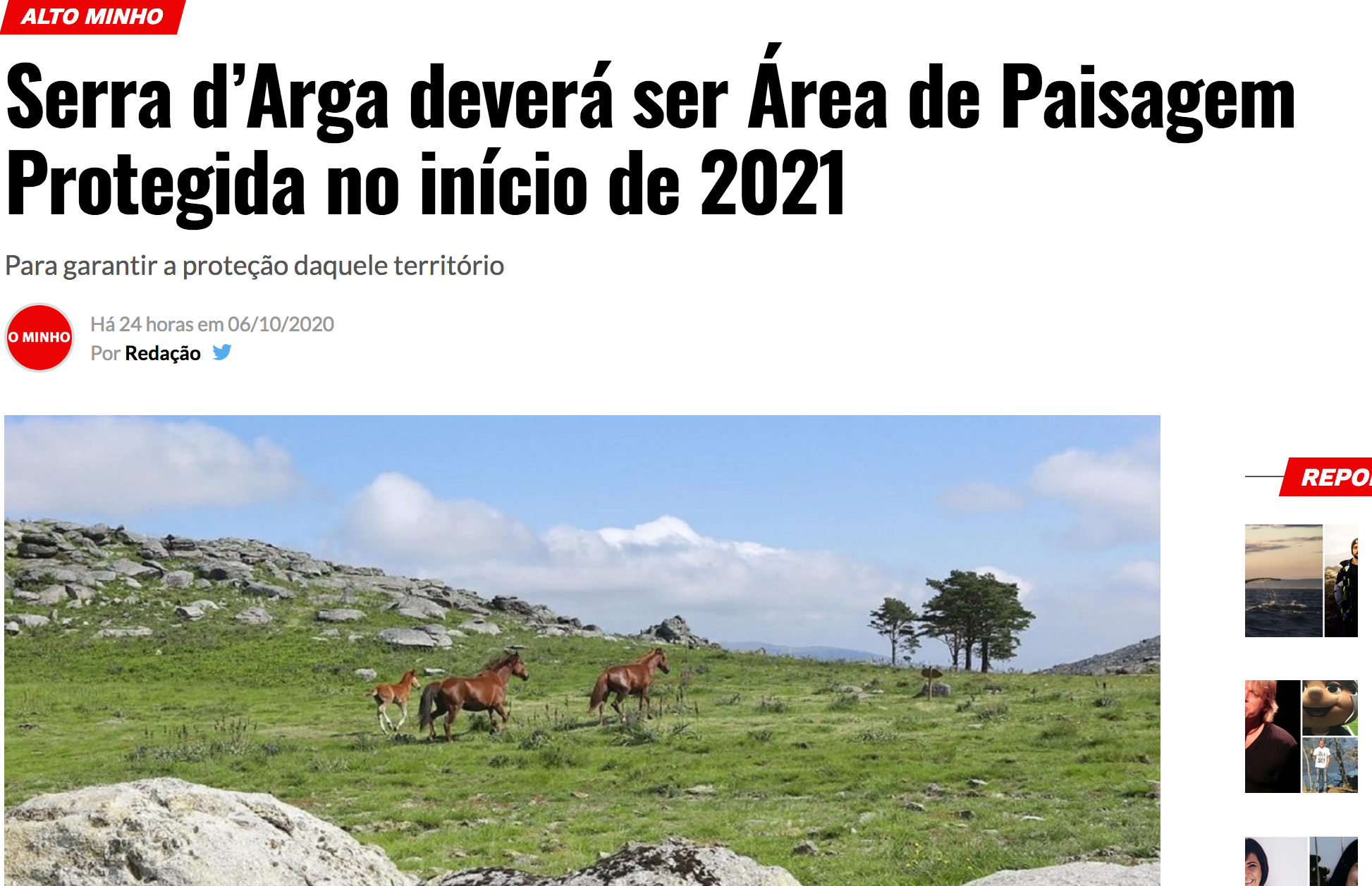 Serra d'Arga, un espace naturel bientôt classé Aire paysagère protégée d'intérêt régional.