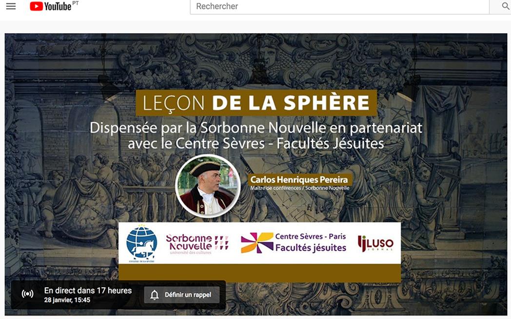 Suivez la Leçon de la Sphère en ligne grâce à Lusojornal